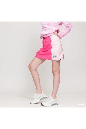 Nike Kadın Pembe Dokuma Etek