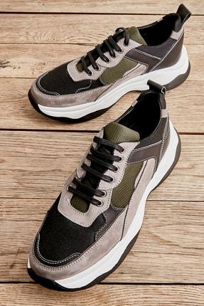 Bambi Gri Siyah Nubuk Erkek Sneaker L1629950701