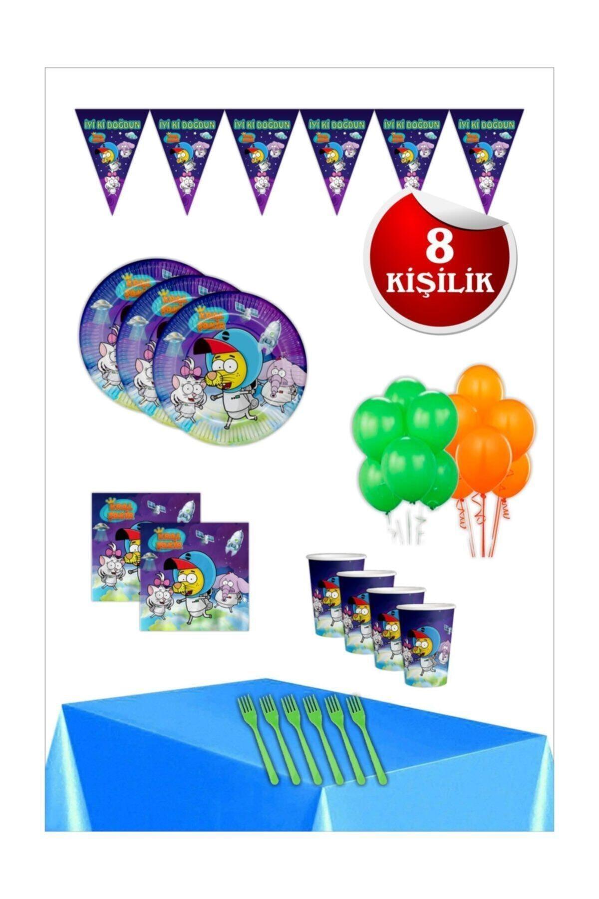 Kral Şakir Uzayda Doğum Günü Parti Seti 8 Kişilik 1