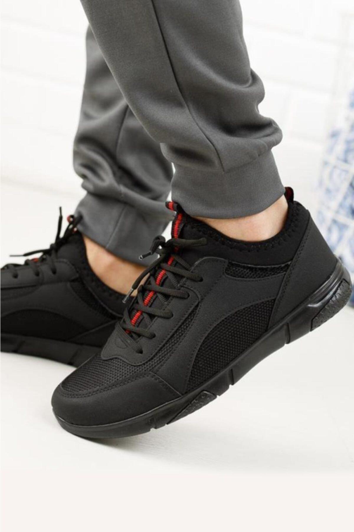 Moda Frato Erkek Siyah Esnek ve Hafif Spor Ayakkabı Rc-04 1