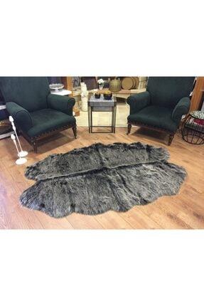 GizHome Alaska Peluş Çamaşır Makinesinde Yıkanabilen Post Halı 120x180 Siyah Kırçıllı