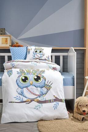 Cotton Box Bebek Nevresim Takımı Owl Mavi