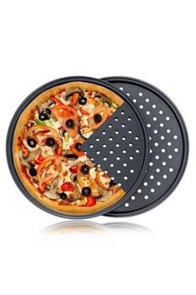 YILMAZ MUTFAK 28cm Delikli 6'lı Pizza Tepsisi (teflon)