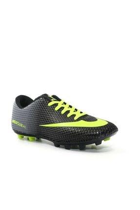 DARKLOW Çim Saha Siyah Yeşil Krampon Halısaha Erkek Futbol Spor Ayakkabı