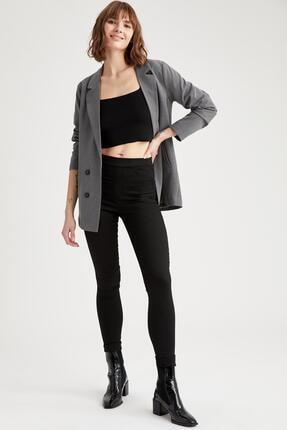 DeFacto Kadın Siyah Regular Fit Basic Dokuma Pantolon N8225AZ.20SP.BK27
