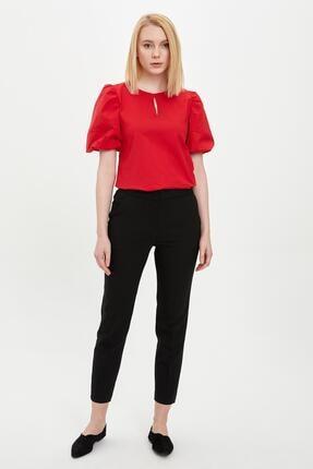 DeFacto Kadın Siyah Slim Fit Dokuma Pantolon R1664AZ.20SP.BK27