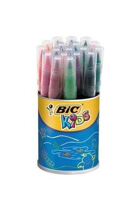 Bic Visaquarelle Fırça Uçlu Keçeli Boya Kalemi 18 Renk Kavanozda