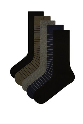Penti Çok Renkli Erkek Stripes 5li Soket Çorap