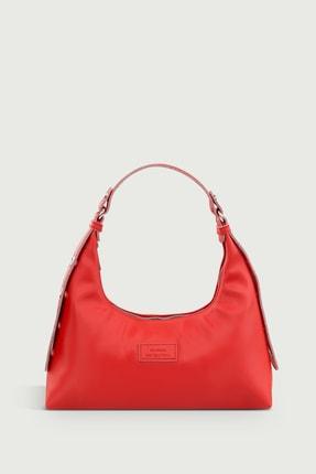 Housebags Kadın Kırmızı Baguette Çanta 205