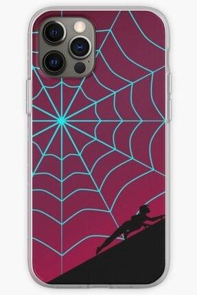 Universal Iphone 12 Pro Max Telefon Kılıfı Silikon Örümcek Alacakaranlık Serisi - Örümcek Gwen