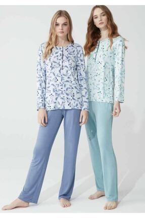 Feyza Pijama Feyza 3775 Uzun Kollu Bayan Pijama Takımı