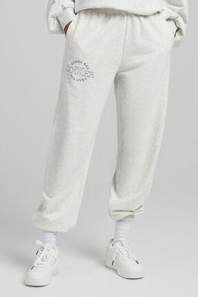 Bershka Pamuklu Kolej Jogging Fit Pantolon
