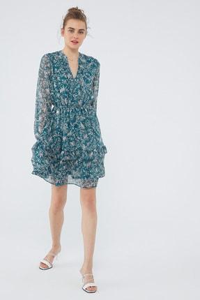 Mavi Kadın Uzun Kollu Yeşil Elbise 131172-35689 131172-35689