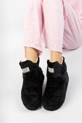 EDS Shoes Unisex Peluş Boğazlı Kolay Giyilen Yumuşak Taban Ev Botu