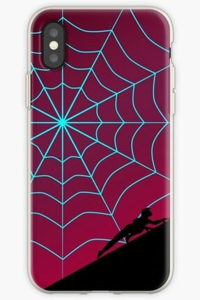 Universal Iphone Xs Telefon Kılıfı Silikon Örümcek Alacakaranlık Serisi - Örümcek Gwen