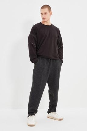 TRENDYOL MAN Triko Antrasit Erkek Carrot Fit Pantolon TMNAW22PL0001