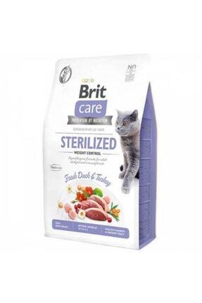 Brit Care Hypo-Allergenic Kilo Kontrolü Için Ördekli Tahılsız Kısırlaştırılmış Kedi Maması 400 gr