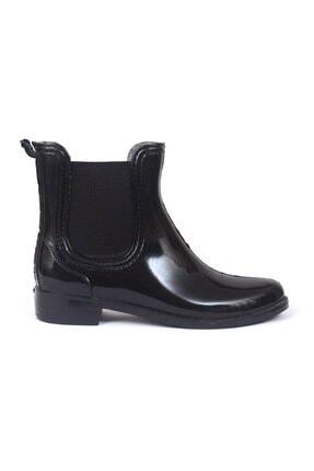 Leon Collection Siyah Kısa Yağmur Çizmesi