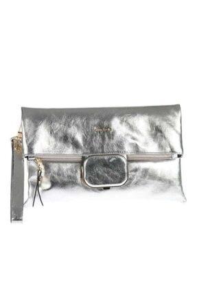 Angel Polo 9380 Gümüş Klaç Ve Çapraz Kulanımlı Bayan Çantası