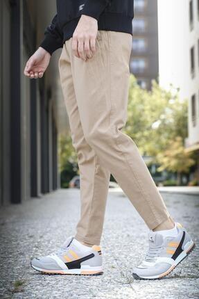 Oksit Marvin Slim Fit Beli Ve Paçası Lastikli Keten Pileli Jogger Pantalon