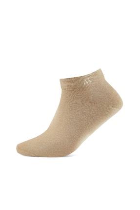 Hemington Pamuklu Camel Kısa Sneaker Çorabı