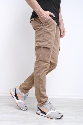 Oksit Cleon Slim Fit Düz Paça Beli Lastikli Erkek Pantalon