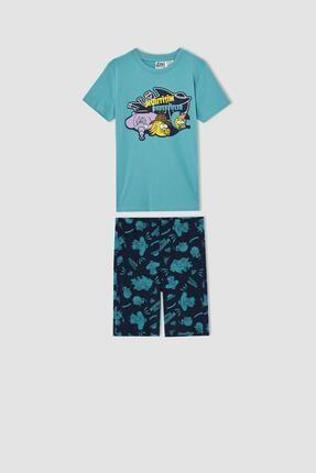 DeFacto Erkek Çocuk Kral Şakir Lisanslı Kısa Kollu Pijama Takımı