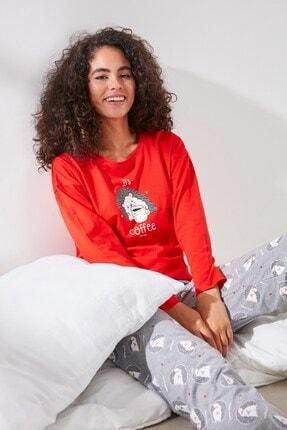 C&City Anne-kız Uzun Kol Pijama Takım 1041750281-1041780281 Kırmızı