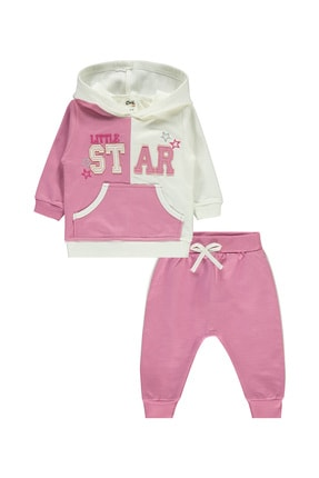 Civil Baby Kız Bebek Kapüşonlu Takım 6-18 Ay Lila