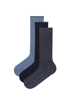 Penti Lacivert Erkek Rib 3lü Soket Çorap