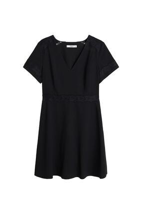 Mango Kadın Siyah Elbise 57017691