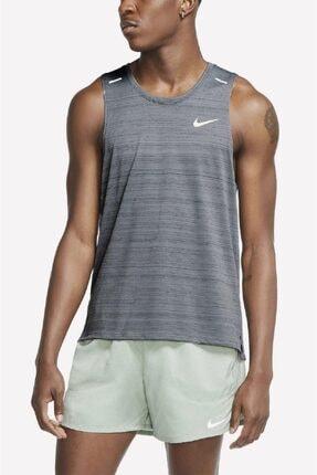 Nike Dri-fit Miller Running Tank Erkek Sporcu Koşu Atleti Gri
