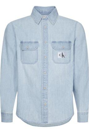 Calvin Klein Erkek Mavi Modern Utılıty Shırt Gömlek