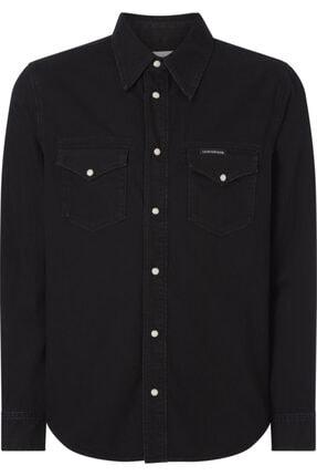 Calvin Klein Erkek Siyah Gömlek