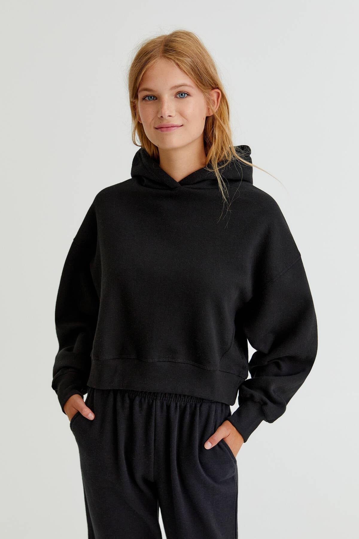 Pull & Bear Kapüşonlu basic sweatshirt