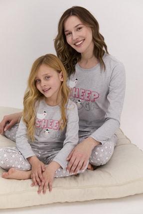 Arnetta Kadın Uzun Kol Sheep Yazılı Pijama Takımı (anne Kız Kombin Yapılabilir Fiyatları Farklıdır)