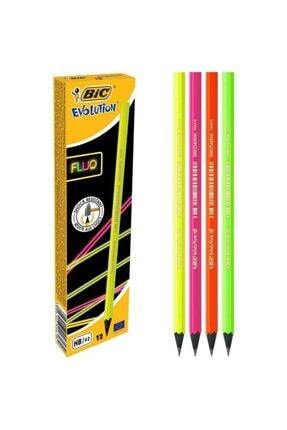 Bic Evolution Fluo Kurşun Kalem 12'li Kutu