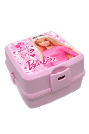 Barbie Beslenme Kabı 3 Gözlü Çatal Kaşıklı Set