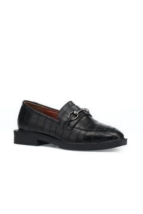 İnci Alupka.k.z 1pr Siyah Kadın Loafer Ayakkabı