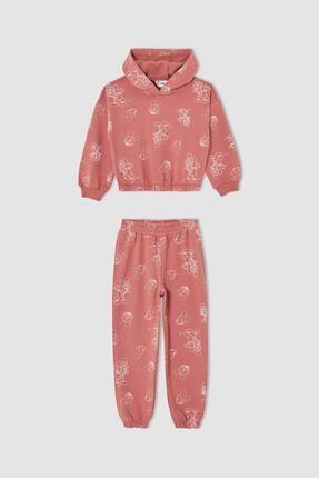 DeFacto Kız Çocuk Mickey Mouse Lisanslı Uzun Kollu Sweatshirt Ve Jogger Eşofman Altı Takımı