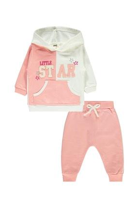 Civil Baby Kız Bebek Kapüşonlu Takım 6-18 Ay Somon