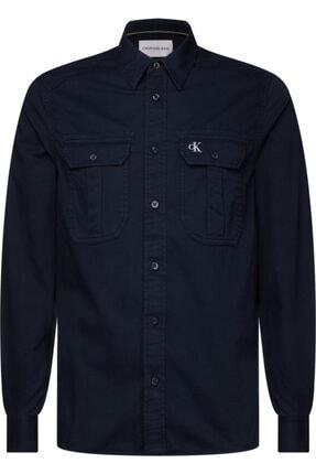 Calvin Klein Erkek Mavi Gmd Twıll Utılıty Reg Shırt Gömlek