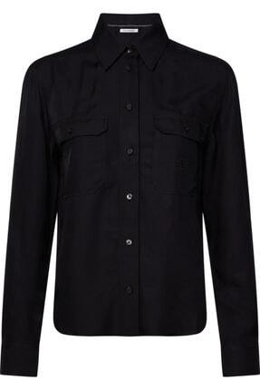 Calvin Klein Kadın Siyah Drapey Utılıty Shırt Gömlek