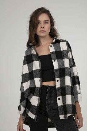Pattaya Kadın Oversize Oduncu Gömlek P21w201-2779