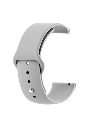 Gpack Google Ticwatch S2 Wear Os Uyumlu Kordon Klasik Silikon Krd 11 Gri