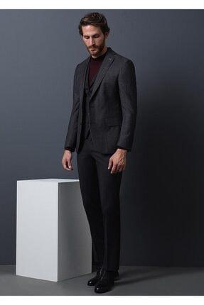 Ramsey Çizgili Dokuma Yelekli Takım Elbise