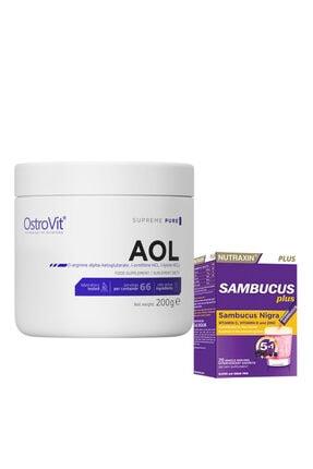 Nutraxin Sambucus Efervasen 20 Paket + Ostrovit Pure Aol 200 Gr Arginine, Ornithine, Lysine