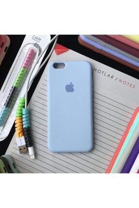 SUPPO Iphone 6 Ve 6s Uyumlu Logolu Lansman Kılıf Ve Kablo Koruyucu Makaron