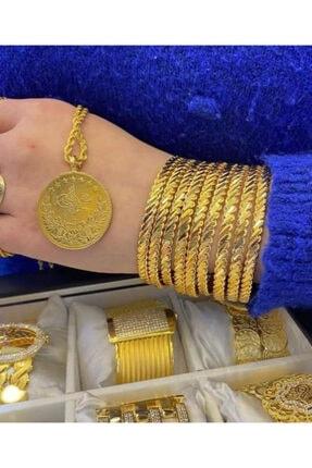 barış gold altın kaplama 22 Ayar Altın Kaplama Kadın 10 Ad Burma Bilezik