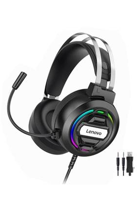 LENOVO H401 Surround Ps4, Xbox, Pc Uyumlu Mikrofonlu Gaming Oyuncu Kulaklığı Işıklı